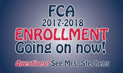 Enrollment for FCA - 2018