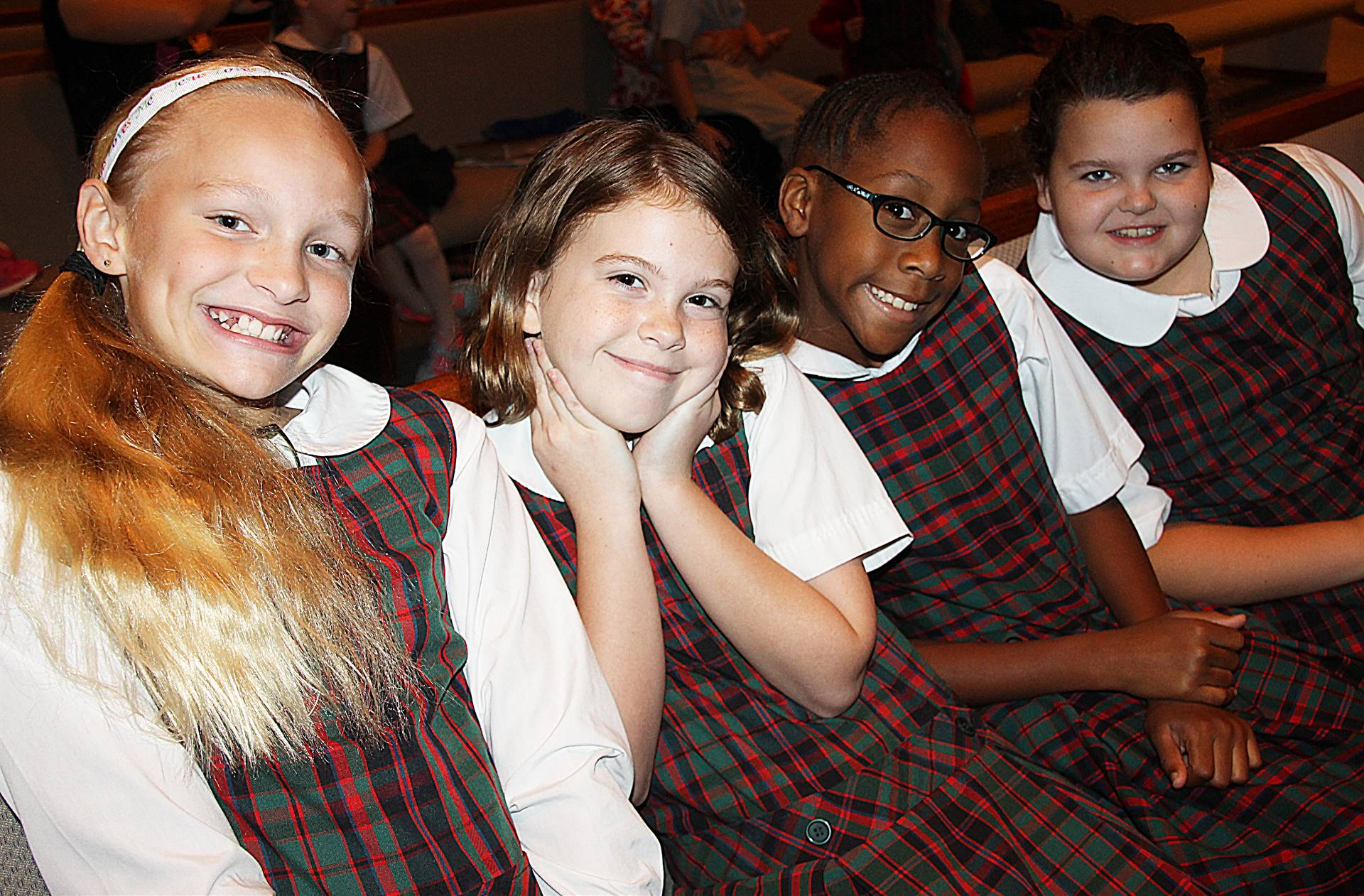 Elementary Girls at Chapel