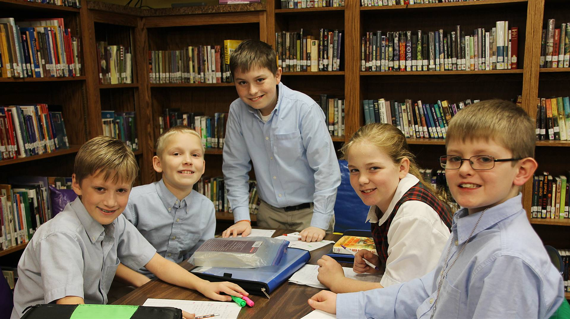 Students in the FCA Library