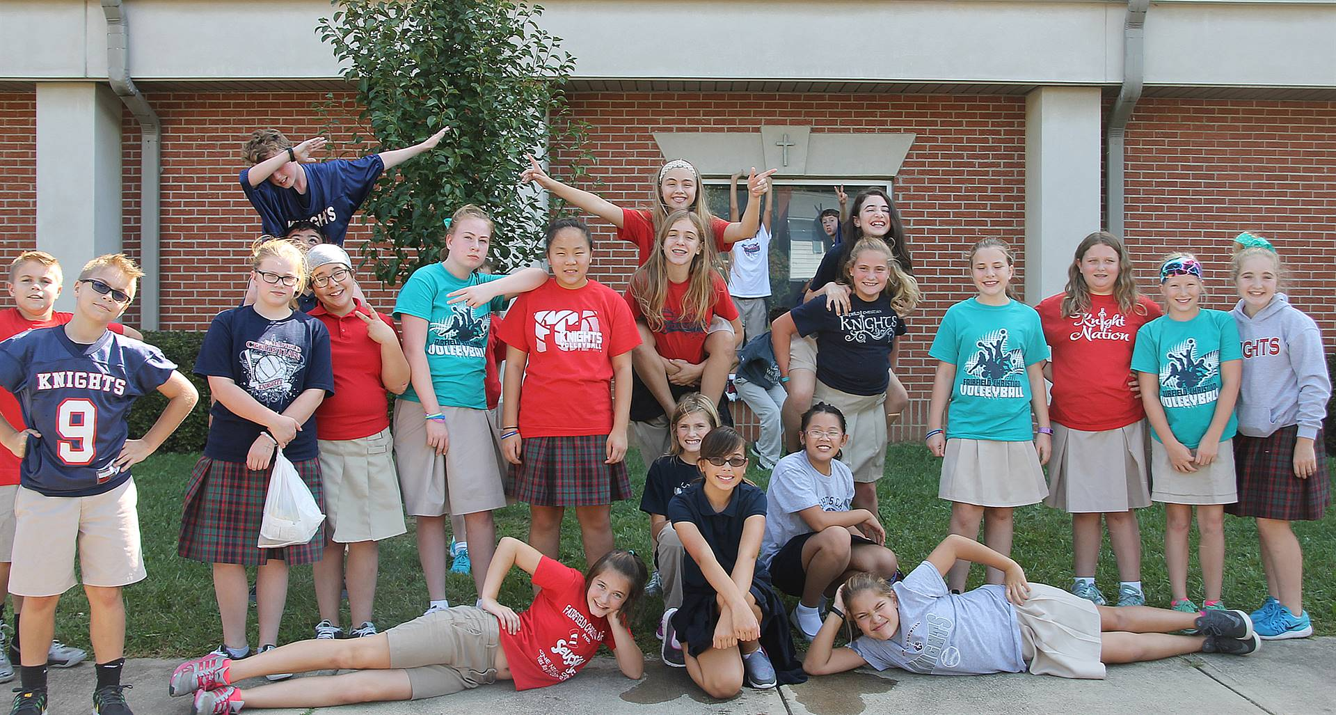 MIddle School Students Having Fun