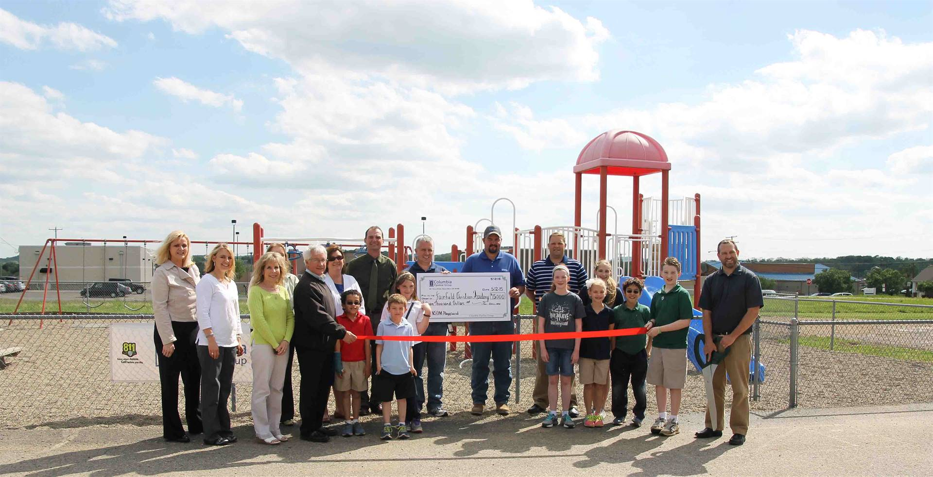 Playground Ribbon Cutting Event