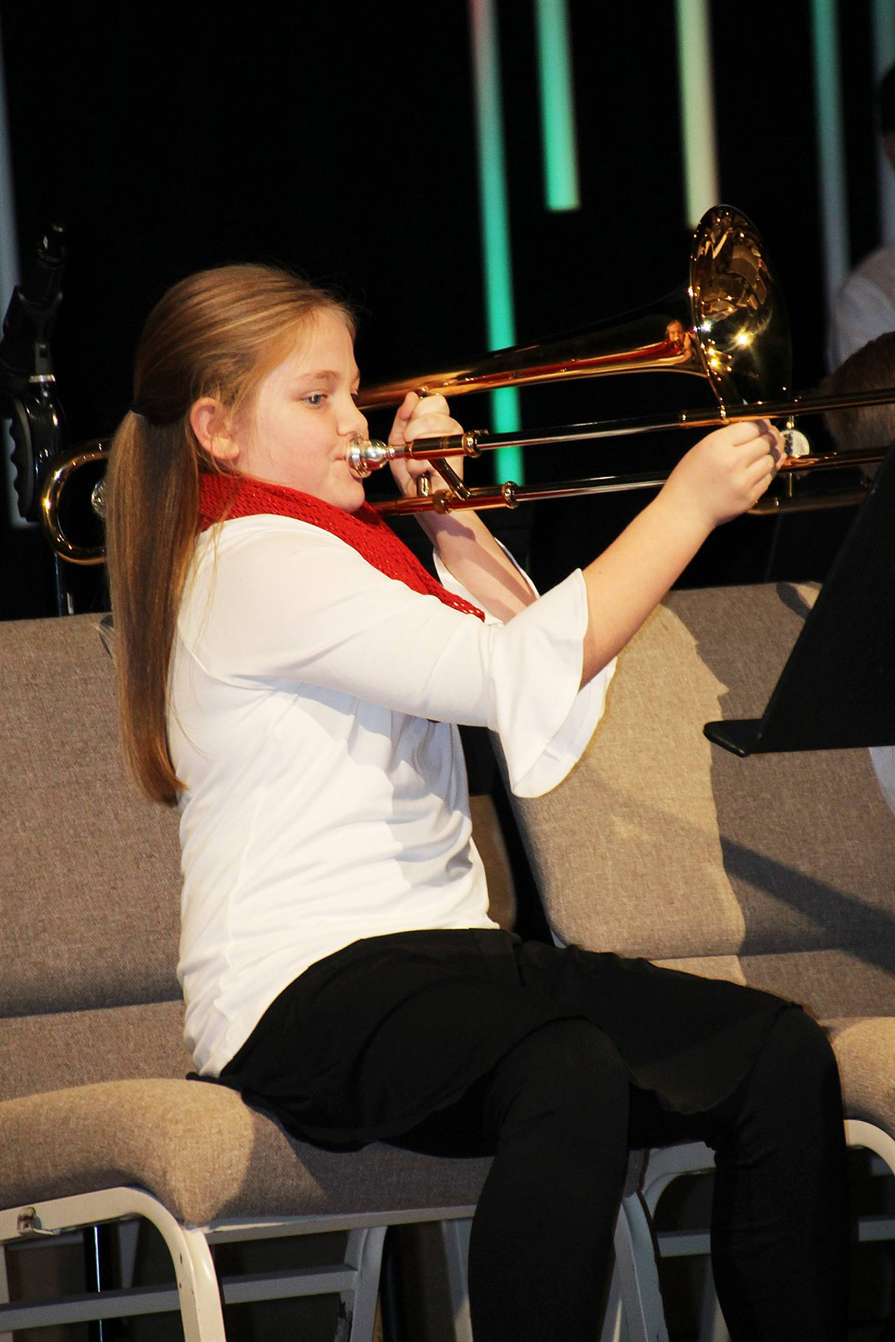 FCA Instrumental Music Student Performing