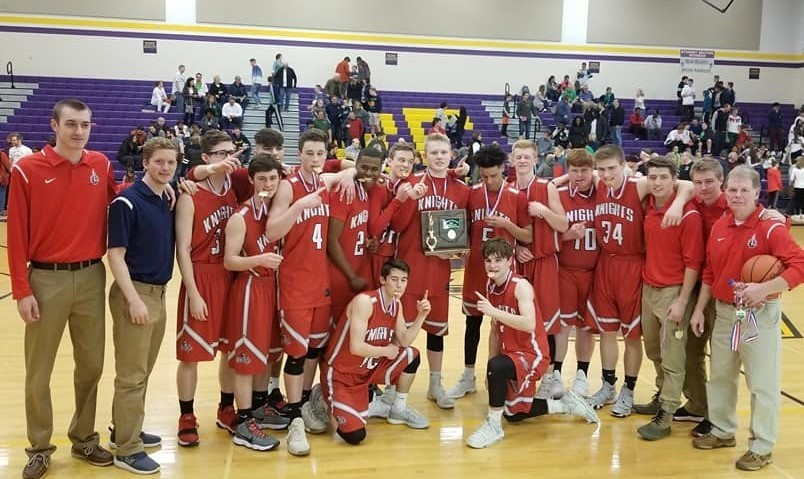 2018 FCA Boys Basketball - District Champs!