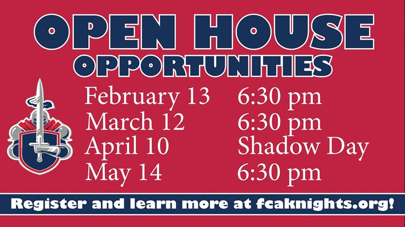 Open House Schedule of Events