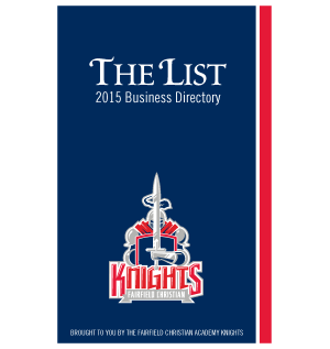 The List - Business Directory - 2015