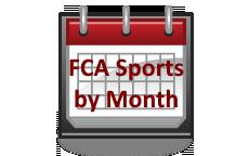 FCA Sports Monthly Calendar