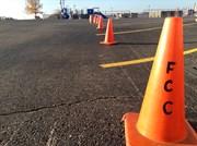 Traffic Cones in Parking Lot