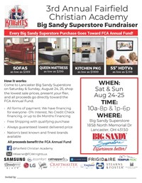 Big Sandy In-Store Fundraiser
