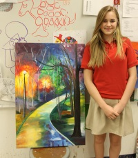 FCA Art Student and her work