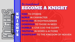Open Enrollment - Become a Knight