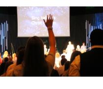 Students worshiping at FCA Chapel