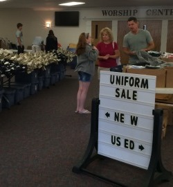 Used Uniform Sale at FCA